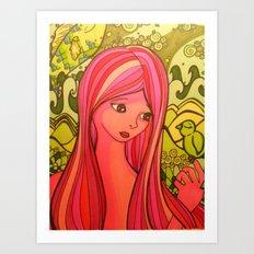 girlie girl   Art Print