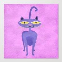The Tiki Cat Canvas Print