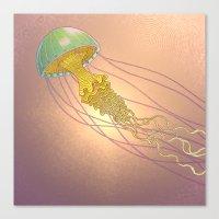 Jellyfish-red Canvas Print