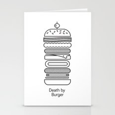 Death By Burger Stationery Cards