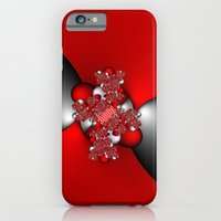 Red and Silver and Black iPhone 6 Slim Case