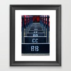 Baseball City Framed Art Print