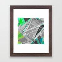 ∆Green Framed Art Print
