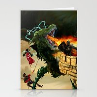Dragon Burns Castle Stationery Cards