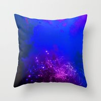 Mysterious World Below the Surface Throw Pillow