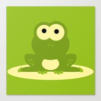 Minimal Frog Green Canvas Print