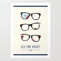 Slapshot - Old Time Hock… Art Print
