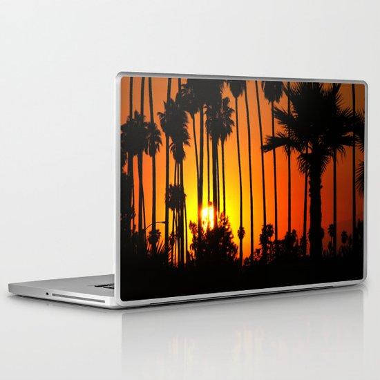 Striped Sunset Laptop & iPad Skin
