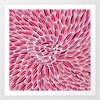 Fuchsia Chrysanthemum Art Print