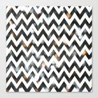 Chevron Glitter Canvas Print
