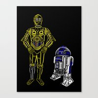 C3TYPO and R2TYPO Canvas Print