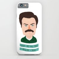 iPhone & iPod Case featuring ron swanson / parks and recreation by Maya Bee Illustrations