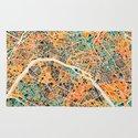 Paris mosaic map #2 Rug