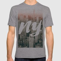 New York Mens Fitted Tee Athletic Grey SMALL