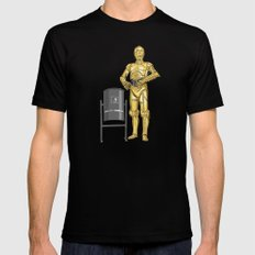 C3PO & Trash Black SMALL Mens Fitted Tee