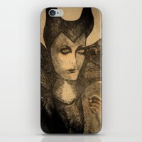 maleficent sketch iPhone & iPod Skin