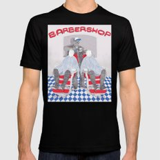 Barbershop Black Mens Fitted Tee SMALL