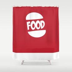 FOOD logo fun generic food logo Shower Curtain