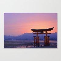 Miyajima Torii at Sunset Canvas Print