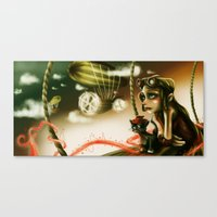Steampunk Flight Canvas Print