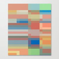 Retro Colors Canvas Print