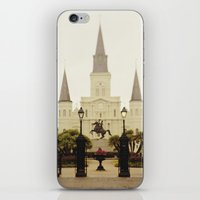 New Orleans Looking Through Jackson Square iPhone & iPod Skin