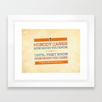 How Much You Care Framed Art Print