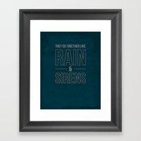 Rain & Sirens Framed Art Print