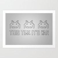 This Time It's War Art Print