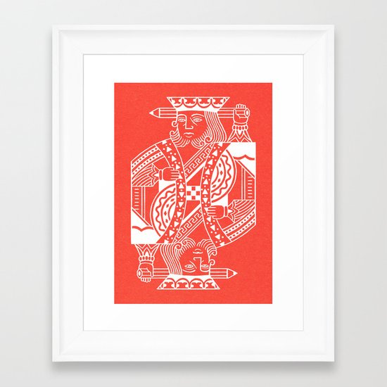 Creativity Is King Framed Art Print