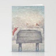 Winter Wonderland Birds  Stationery Cards