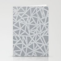 Abstract New Grey Stationery Cards