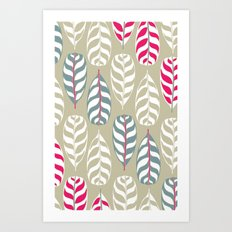 Simple leaf print, experiment Art Print