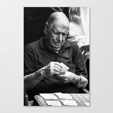 playing the time out Canvas Print