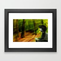 Playing Outside Framed Art Print