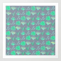 Sleep Your Leafy Greens Art Print
