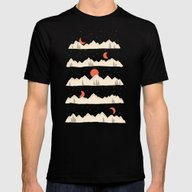 Moonrises...Moonsets... Mens Fitted Tee Black SMALL