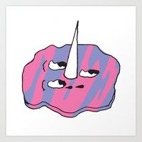 Ice Cream Puddle Art Print