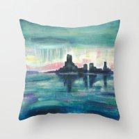 Rain City Throw Pillow