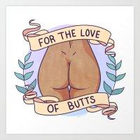 Butts 1 Art Print