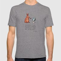Pipe-smoking Rabbit Mens Fitted Tee Tri-Grey SMALL