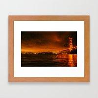 gg bridge Framed Art Print
