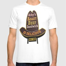 Awesome Arby White Mens Fitted Tee SMALL