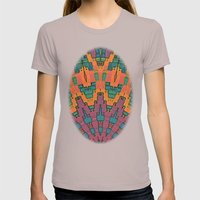 Sunset Mandala No. 1 Womens Fitted Tee Cinder SMALL