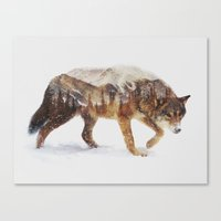 Canvas Prints featuring Arctic Wolf by Andreas Lie