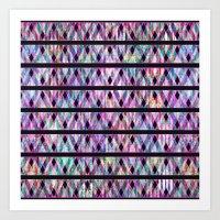 Geometric Glossy Pattern… Art Print