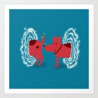 Atomic Dog Art Print