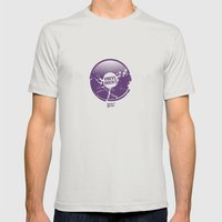 Vinyl Rocks Mens Fitted Tee Silver SMALL