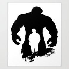 Hulk-Bruce Banner Art Print