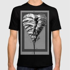 Razor Blade Romance (Black and White Version) Black SMALL Mens Fitted Tee